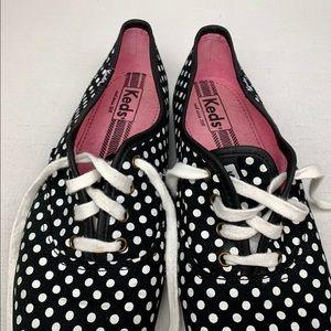 KEDS   Champion Polka Dot Canvas Sneaker Black